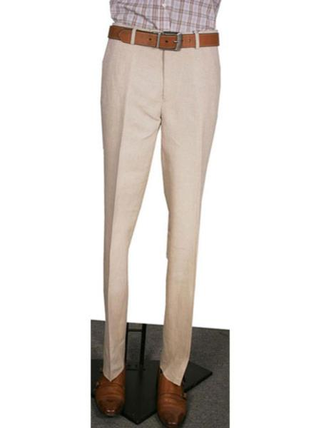 Modern Fit Wide Leg Pleated Slacks Pant 1920s 40s Fashion Clothing Look ! Natural