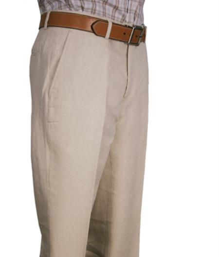 Product# MK452 Modern Fit Flat Front Pant Natural