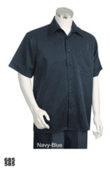 Product# KA4355 Leisure Walking Suit Short Sleeve 2piece Walking Suit