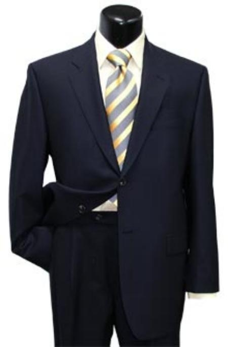 High-quality construction Two-Button Dark Navy Blue Shade Superior Fabric Soft Wool Fabric Center Vent Suit