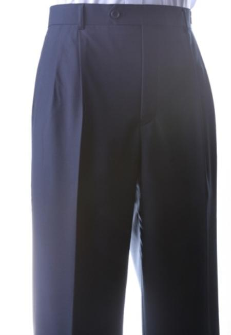 Product# KA1178 Superior Fabric 150s Extra Fine Dress Pants Navy