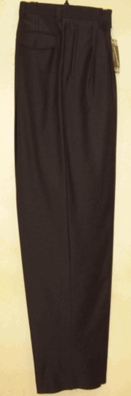 Product# FE621 long rise big leg slacks Navy 1920s 40s Fashion Clothing Look ! wide leg dress pants Pleated Slacks baggy dress trousers
