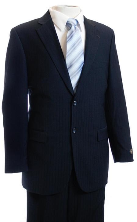 FG4578 Navy Tone/Tone Pinstripe Designer affordable suit Online Sale