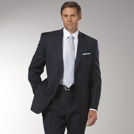 Product# JZ3821 Navy Glen Plaid affordable suit Online Sale