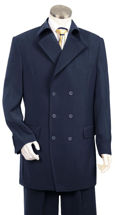 Luxurious Navy Fashion Long