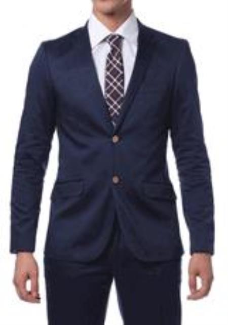 Cotton Skinny Fit Suits