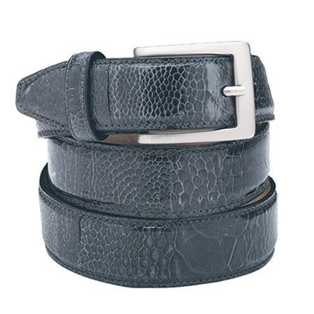 Product# KA7292 Navy Ostrich Leg Belt