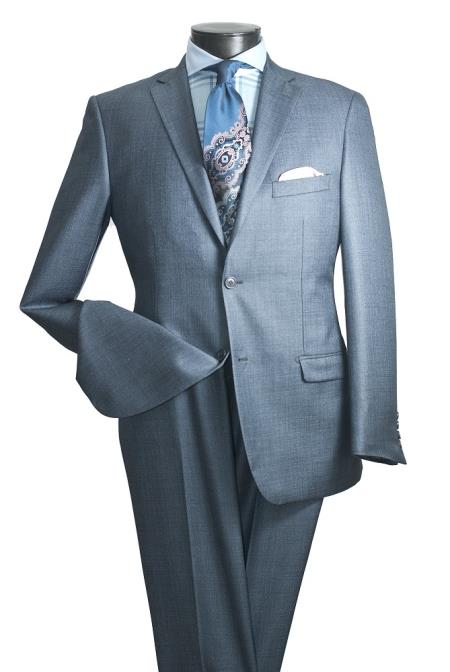 KA5733 2 PC Slim narrow Style Cut Suit Double Vents