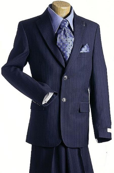 2 Button Style Navy Pin Kids Boys Designer Suits For Teenagers
