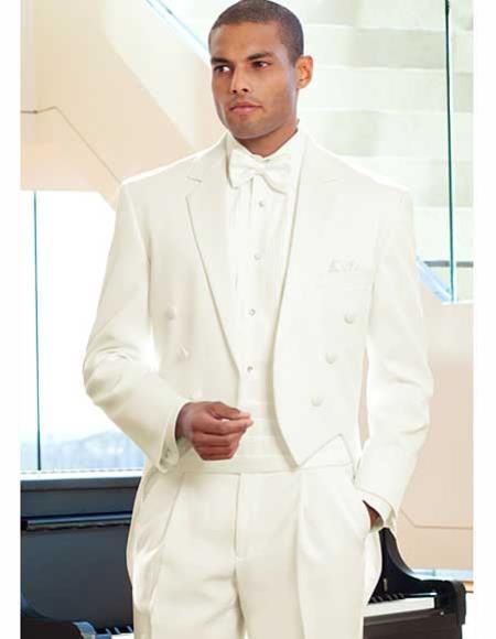 Ivory ~ Cream ~ Off White Tailcoat Tuxedo For Men