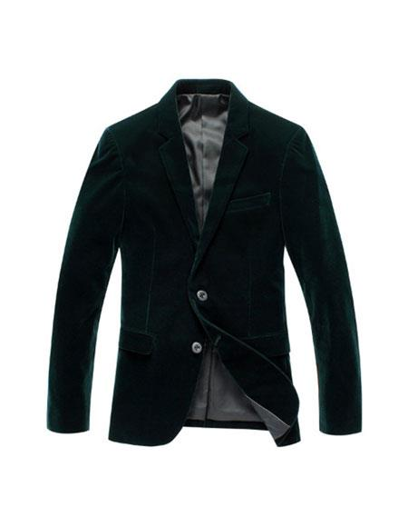 Men's Olive Green Velvet blazer
