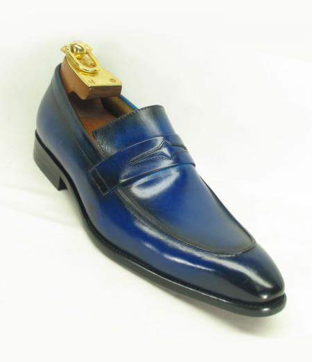 Product# JSM-5892 Men's Blue Ombre Slip On Style Fashionable Carrucci Loafer