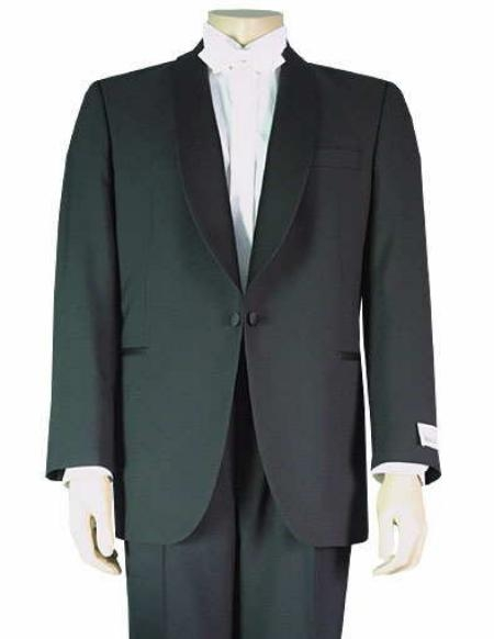 1 Button Style Shawl Collar Single Breasted formal tux Jacket Single Button
