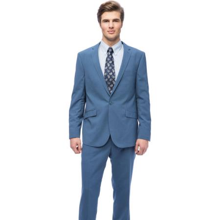JSM-946 Mens 1-button West End Young-Look Slim-Fit Blue Suit Clearance Sale Online
