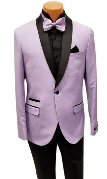 men's One Button Shawl Lapel Lavender Prom Wedding Tuxedo Clearance Sale Online