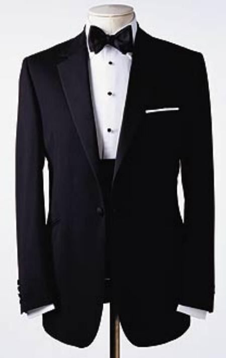 Amazing Quality Beautiful Design One 1 Button Style Tuxedo Superior Fabric 150's premier quality italian fabric Design