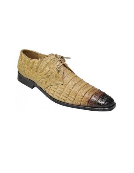 Product# PN-N14 Authentic Los altos Oryx / Liquid Jet Black Shaded All Over Genuine Hornback Crocodile ~ Alligator skin Shoes for Online