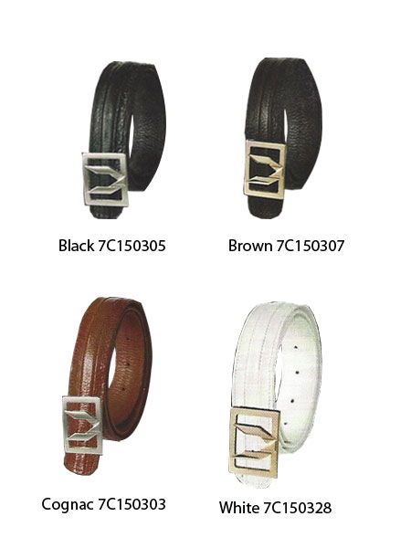 Product# KA8695 Full Quill Ostrich Dress 1 1/4 in Dress Belts - Black,Brown,Cognac,White
