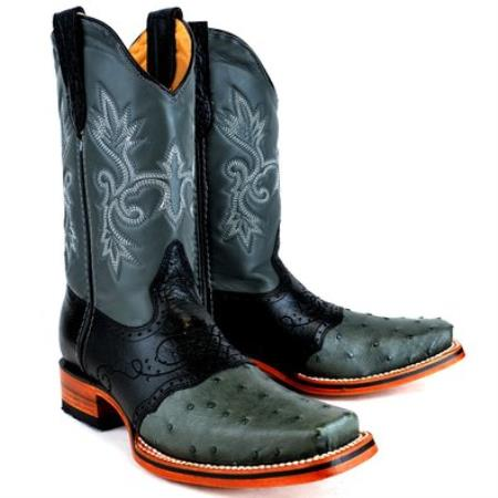 King Exotic Boots Ostrich
