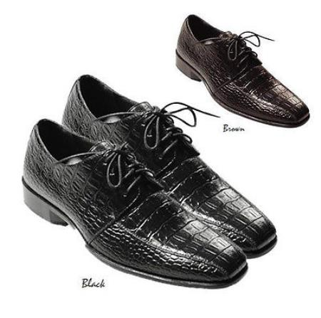 Product#PN76 Fashionable Oxfords trendy casual Dress Shoes for Online Liquid Jet Black and brown color shade