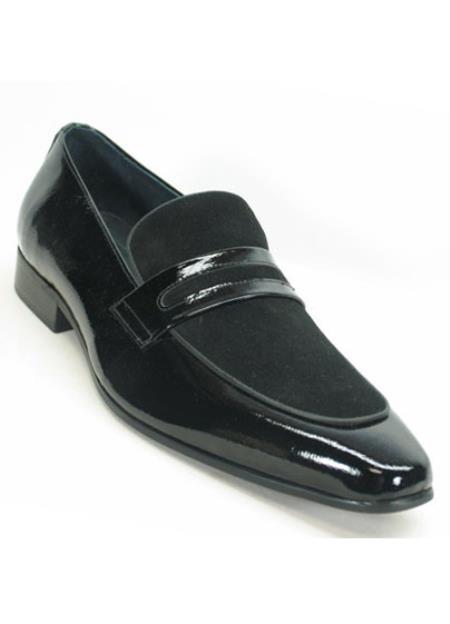 Mens Genuine Patent Leather