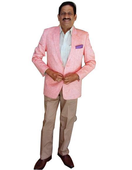 Alberto Nardoni Best men's Italian Suits Brands Light Pink Color Summer Men's 2 Piece Linen Causal Outfits Blazer Sport Coat Jacket / Beach Wedding Attire For Groom