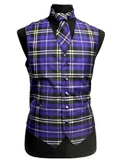 Mens Black/White/Purple Slim Fit