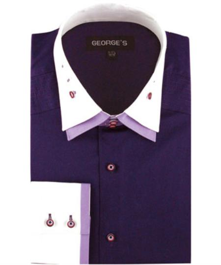 Mens Purple Solid Color