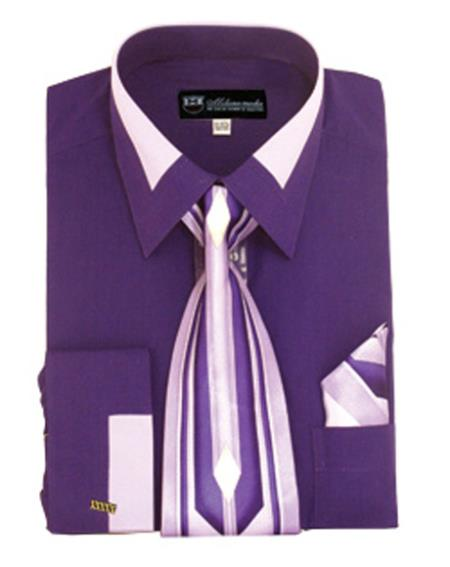 Mens Fashion Purple French