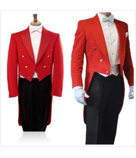 Mens Red/Black 3 Piece