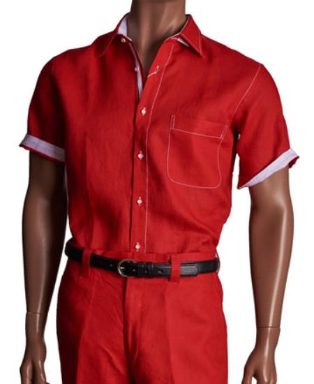 2 Piece red color