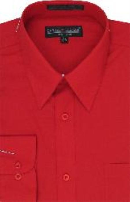 Product# CD663 red color shade Dress Shirt