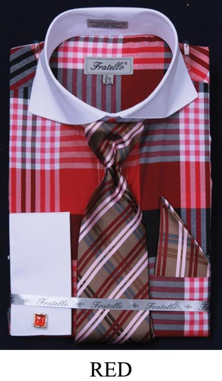 Cuff Dress Shirt Set