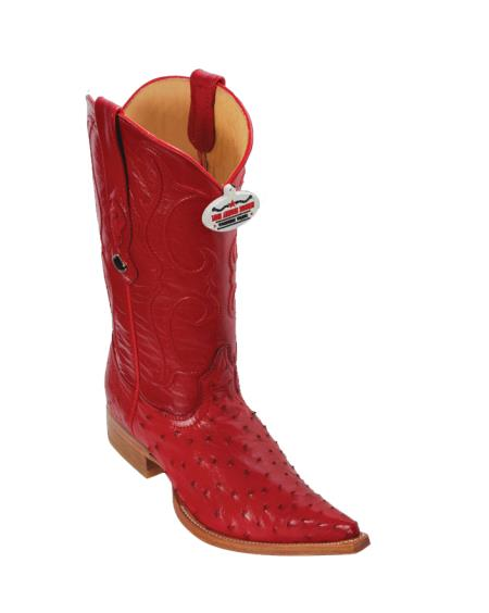 Product# U4U5 Authentic Los altos red color shade Ostrich Cowboy Boots