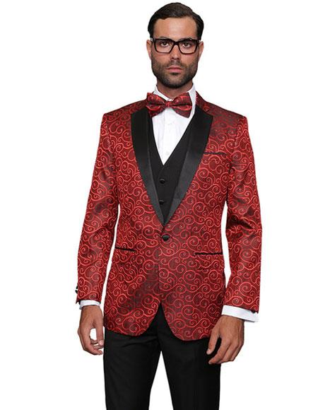 Product Jsm 4341 Mens Sequin Paisley Dinner Jacket Tuxedo L