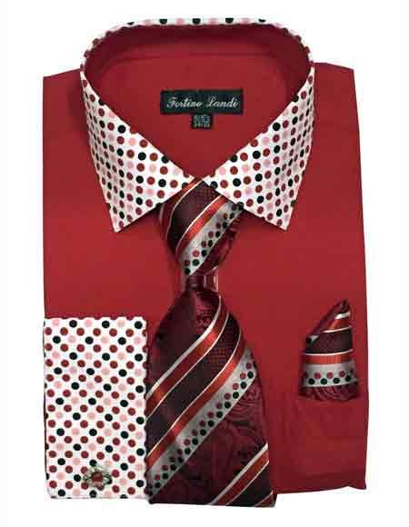 Mens Red Cotton Blend