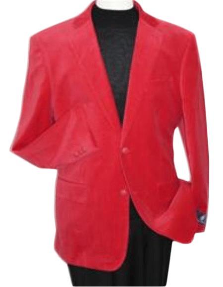 Velvet Blazer - Mens Velvet Jacket red color shade Velvet Blazer Online Sale Jacket