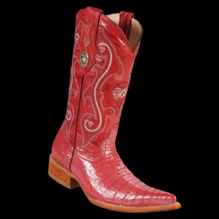 Product# KA7221 New Reg: $795 discounted Online Sale clearance diamonds Boots-Crocodile ~ Alligator skin Belly 3x-Toe Cowboy Boots red color shade