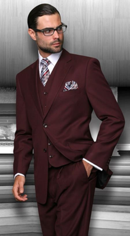 maroon, Suits for Men, Mens Tan Suits