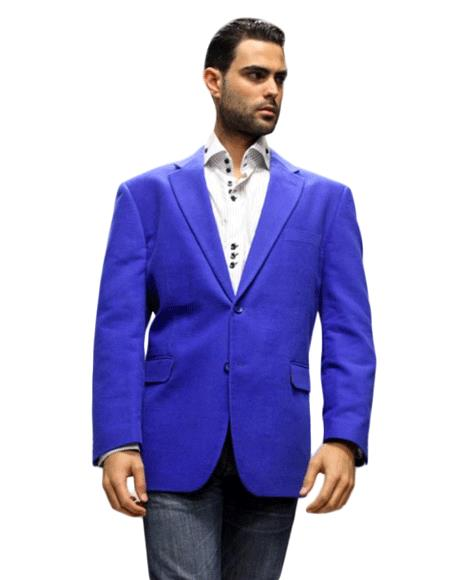Royal Sport Coat It's One of a Kind Superior Fabric 150's For All Occasion Velvet Fabric