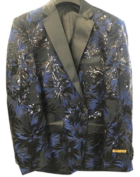 Alberto Nardoni Best men's Italian Suits Brands men's Navy ~ Black ~ Blue Tuxedo Unique Shiny Flashy Fashion Prom Floral ~ paisley ~ Sequin Blazer ~ Dinner Jakcet ~ Sport Coat  Perfect For Prom Clothe - Prom Outfits For Guys