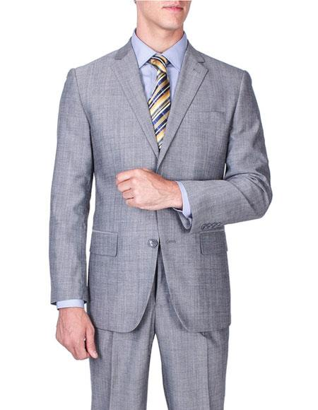 Mens Sharkskin Wool Single
