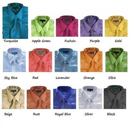 Classic Satin Dress Shirt