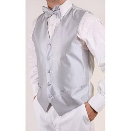 Product# TG7849 Grey 4-piece Vest Set