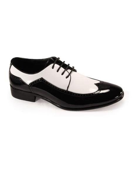 Product# FR7200 Luxury Mens 1920s style fashion mens shoes for Online Black/White