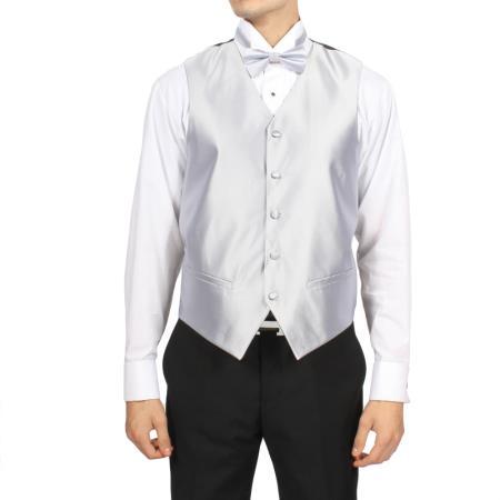 Silver 4-Piece Vest Set