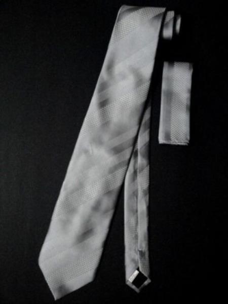 Neck Tie Set Silver