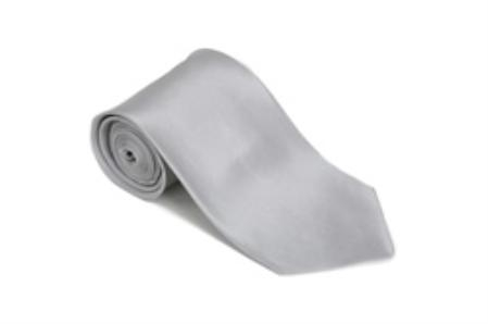Silver 100% Silk Solid