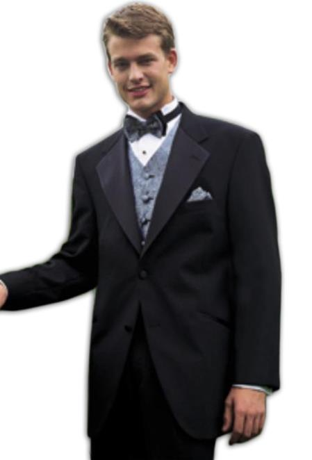 Tuxedo Package Superior Fabric 140'S Wool Fabric 2 Button Style Tuxedo Suit + Your choice of Any Color Vest, Shirt, Tie