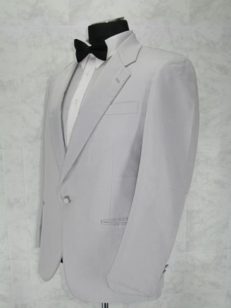 Product# T111 Single Breasted Notch Lapel White 1 Button Style Notch Lapel jacket 100% Microfiber